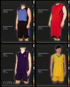 Basketball uniforms, custom shape for basketball