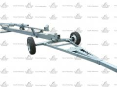 Cart for transportation of harvesters VTZH from 7 to 9 m one and the biaxially